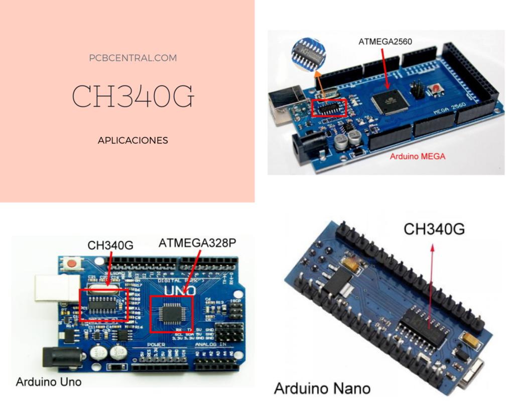 CH340G en las tarjetas genéricas de la plataforma Arduino