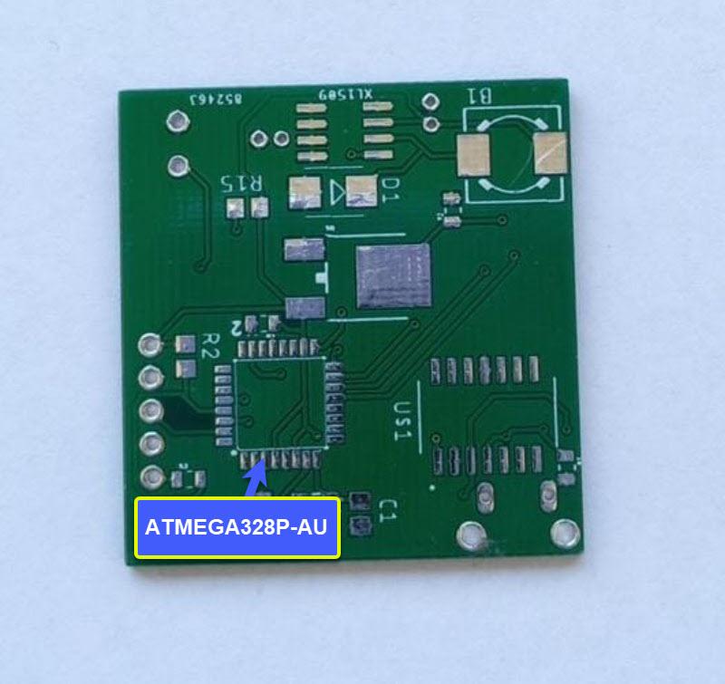 PCB con ATMEGA328P